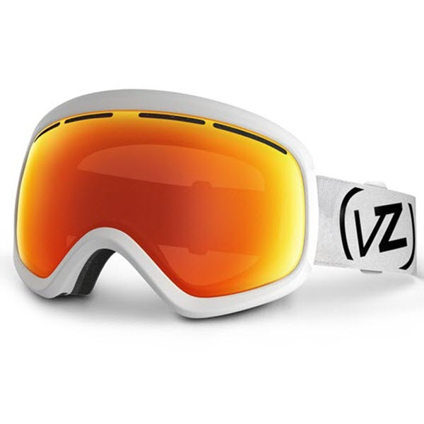 Von Zipper Skylab Snowboard Goggles White Satin with Fire Chrome Lens New 2014