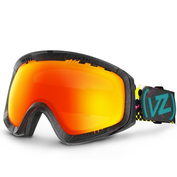 Von Zipper Feenom Snowboard Goggles Party Animal Fire Chrome 2014
