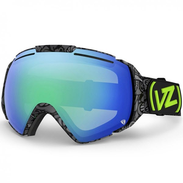 Von Zipper El Kabong Goggles John Jackson Shrooom Quasar Chrome 2014 with Free Lens