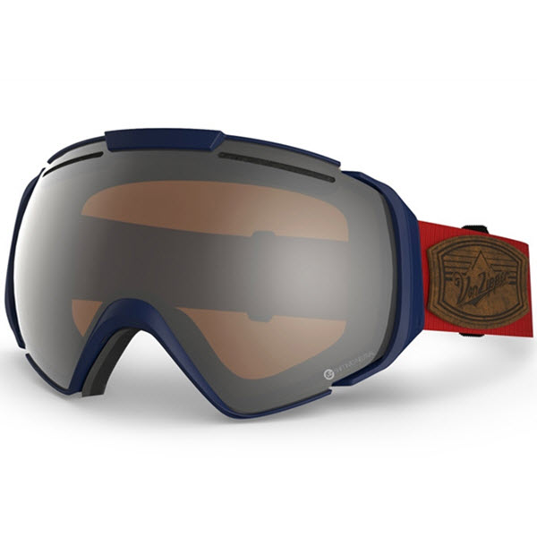 Von Zipper El kabong Goggles Shift Into Neutral Navy Persimmon Chrome Lens 2014