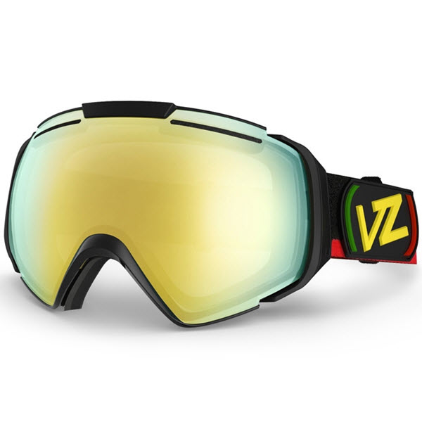 Von Zipper El kabong Goggles Vibrations Black with Gold Chrome Lens New 2014