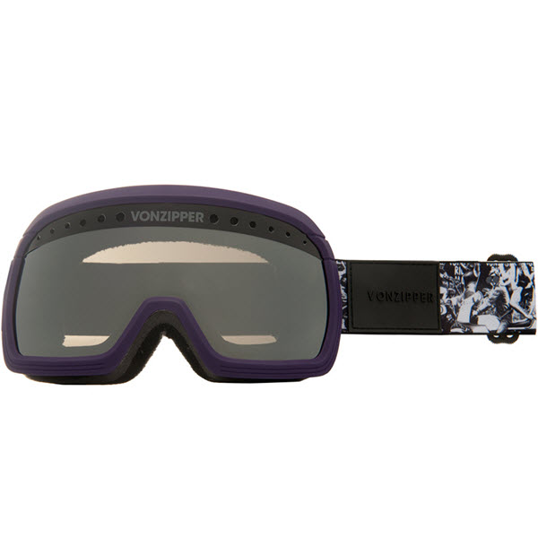 Von Zipper Fubar Goggles Eggplant Satin with Black Chrome Lens 2014