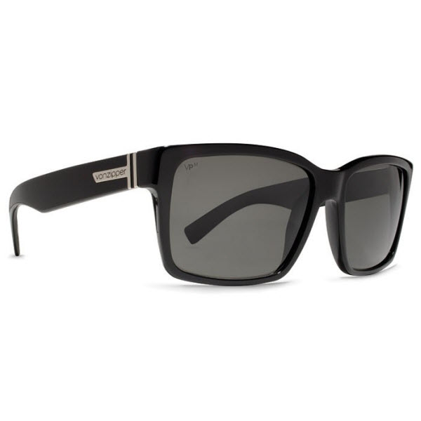 Product image of Von Zipper Elmore Sunglasses in Black Gloss - Meloptix Grey Lens, VZ