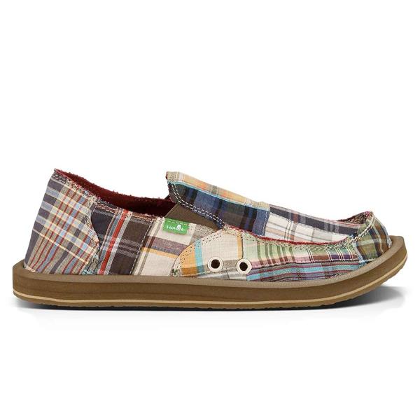 sanuk vagabond madras brown multi mens shoes sandals