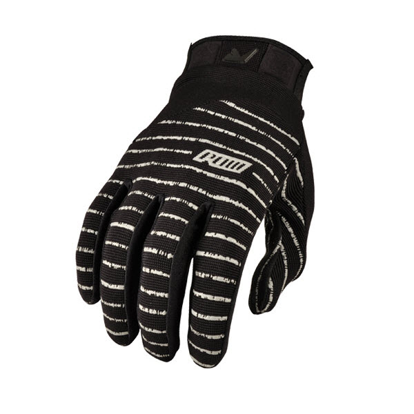 Pow Mens Skinny Snowboard Pipe Gloves / Bike Gloves Black