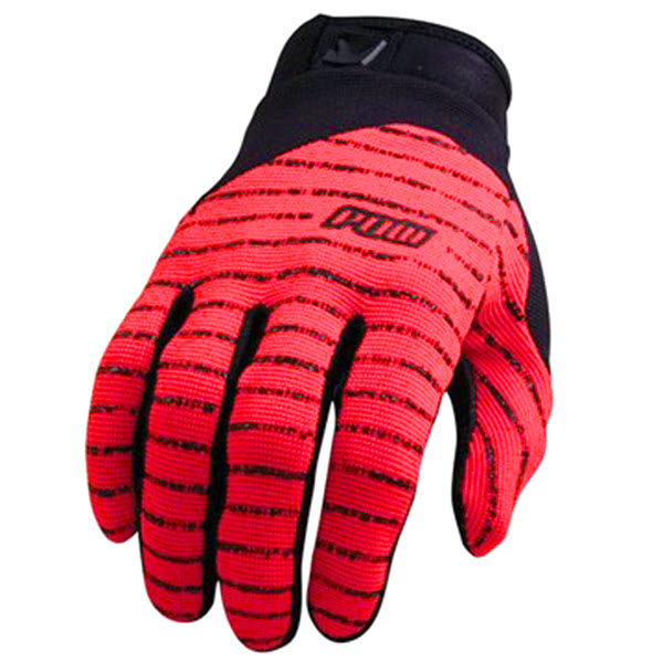 Pow Mens Skinny Snowboard Pipe Gloves / Bike Gloves Red