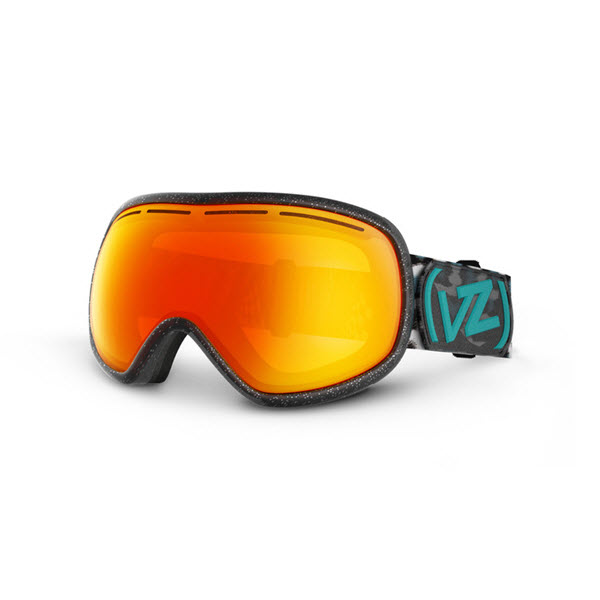 Von Zipper Chakra Snowboard Ski Goggles Party Animals Black Fire Chrome 2014