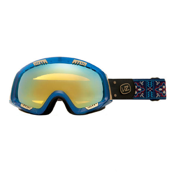 Von Zipper Feenom Snowboard Goggles Native with Gold Chrome Lens 2013