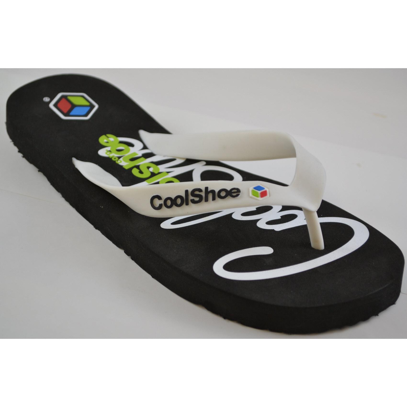 Zapato frío Spray Negro Para Hombres Sandalias Flip Flop