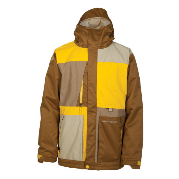mens insulated snowboard jacket yellow2014 xl snowboard club uk