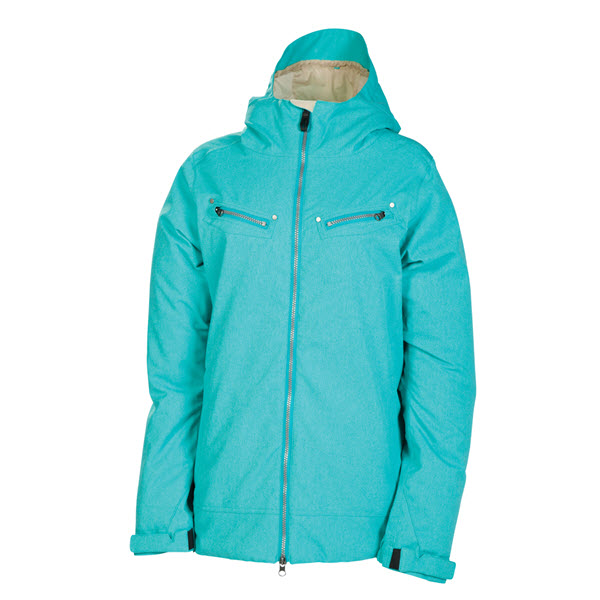 The Board Basement  686 Womens Mannual Tender Snowboard Jacket Turquoise Texture 2014