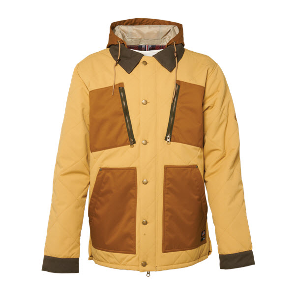 Image of 686 Dickies Miner Snowboard Jacket Sand Herringbone Dobby Large Sample 2015