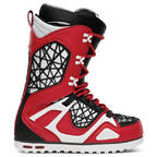 Thirtytwo TM-2 TM2 Mens Snowboard Boots Red Red Black Lace up New Sample UK 8