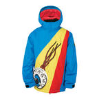 686 Snaggletooth Eyepocket Boys Snowboard Jacket Blue Large Sample Kids 2015