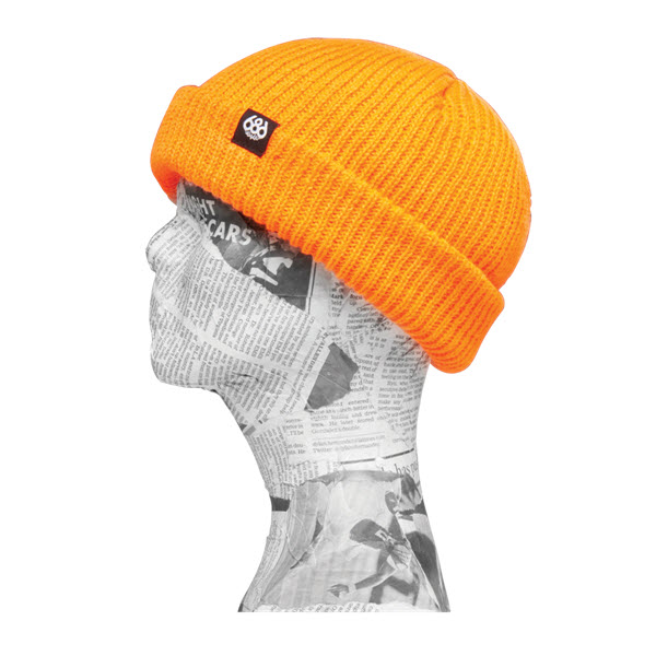 Image of 686 Roll up Beanie Hat Safety Orange New 2015