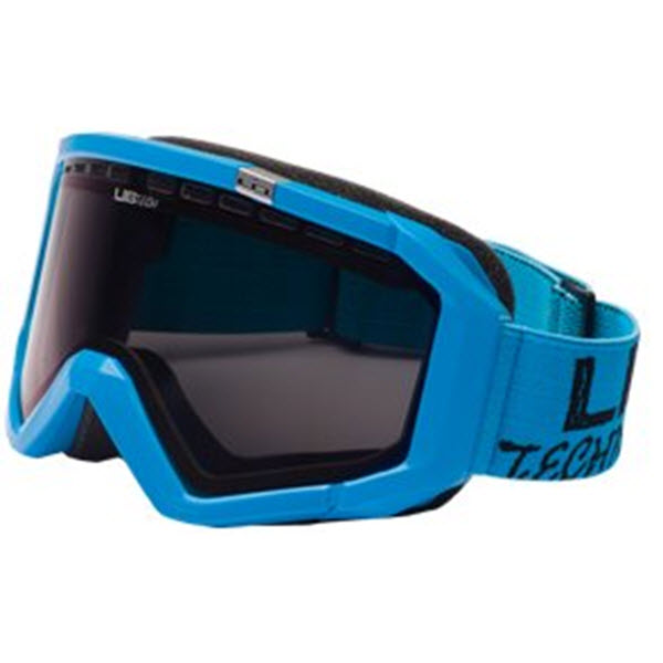 Lib Tech Logo Blue Snowboard Goggles Blue Chrome Lens 2012