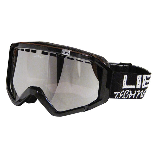 Product image of Lib Tech Logo Night Rider Black Snowboard Goggles Orange Chrome Lens 2012
