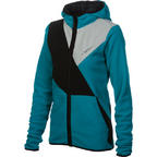 686 Womens Vista Tech Fleece Hoody Snowboard Teal Medium 2013