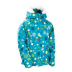 686 Girls Mannual Bubbles Puffy Girls Jacket Medium Turquoise Sample 2011
