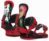 Union Capita Bad Ass Mens Snowboard Bindings 2015 in Black Red