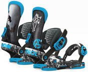 Union Asymbol Mens Snowboard Bindings 2015 in Black Blue