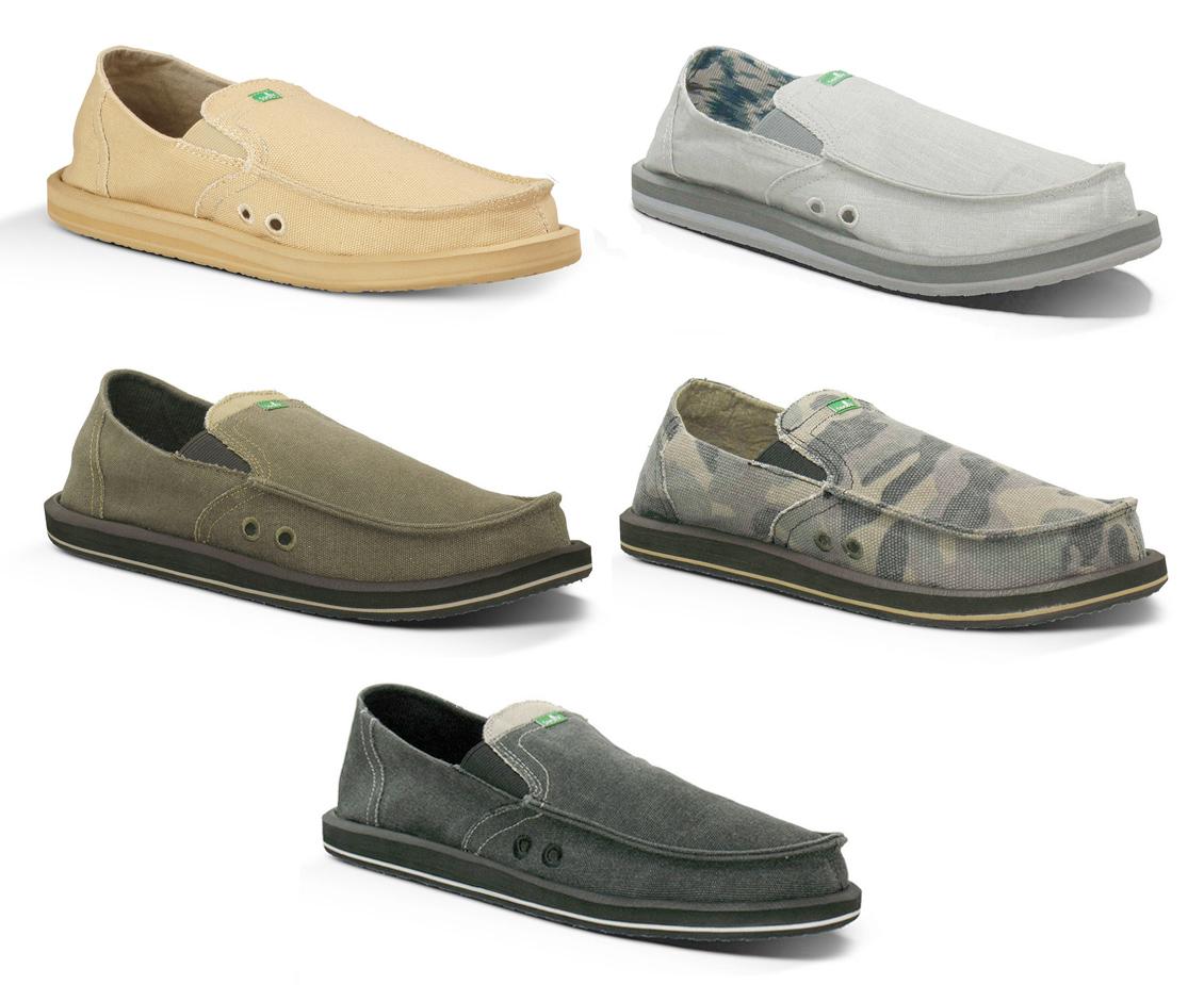 Sanuk Mens Sandals Pick Pocket Sidewalk Surfers Slip