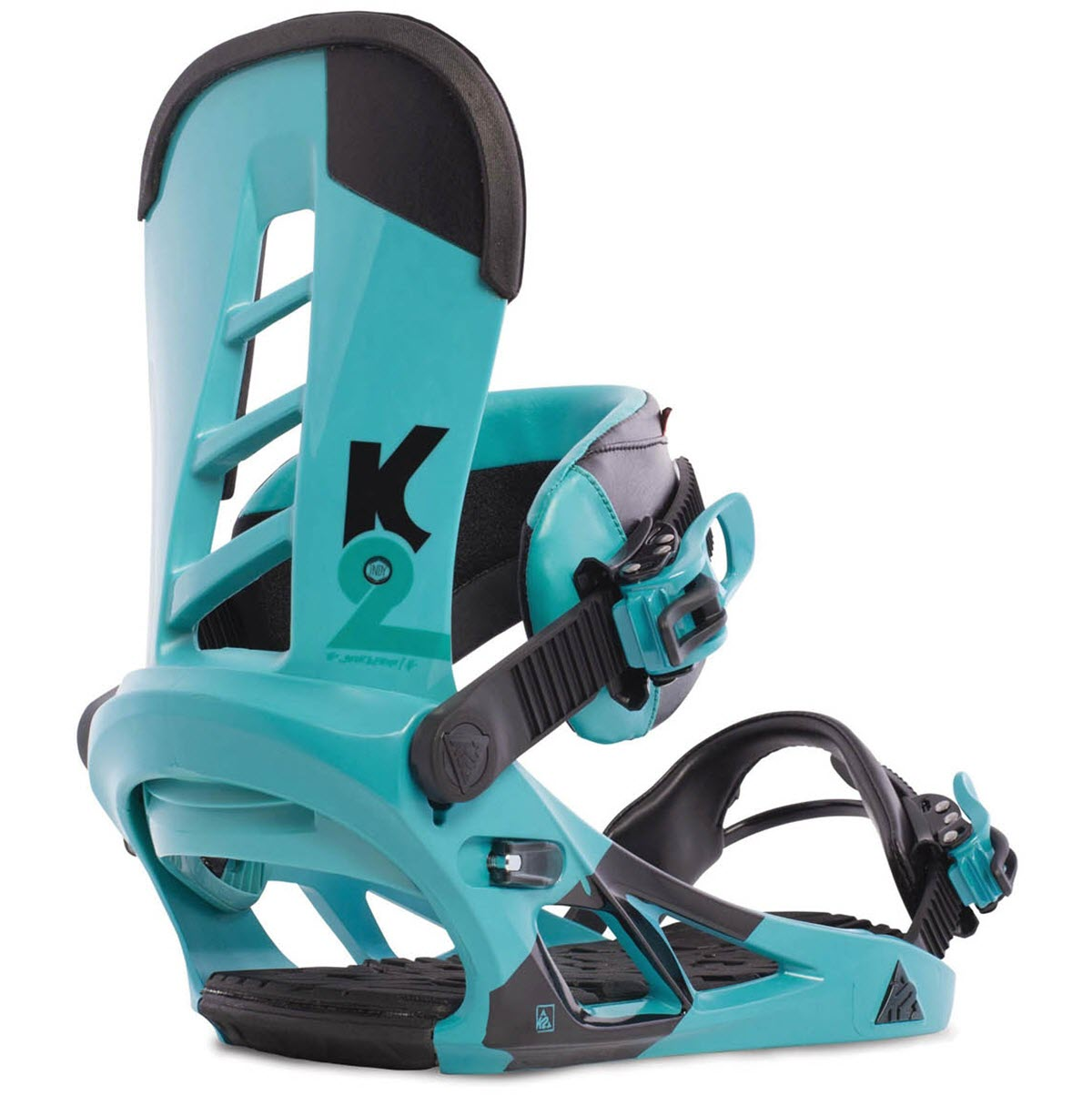 K2 Indy Snowboard Bindings 2015 Teal