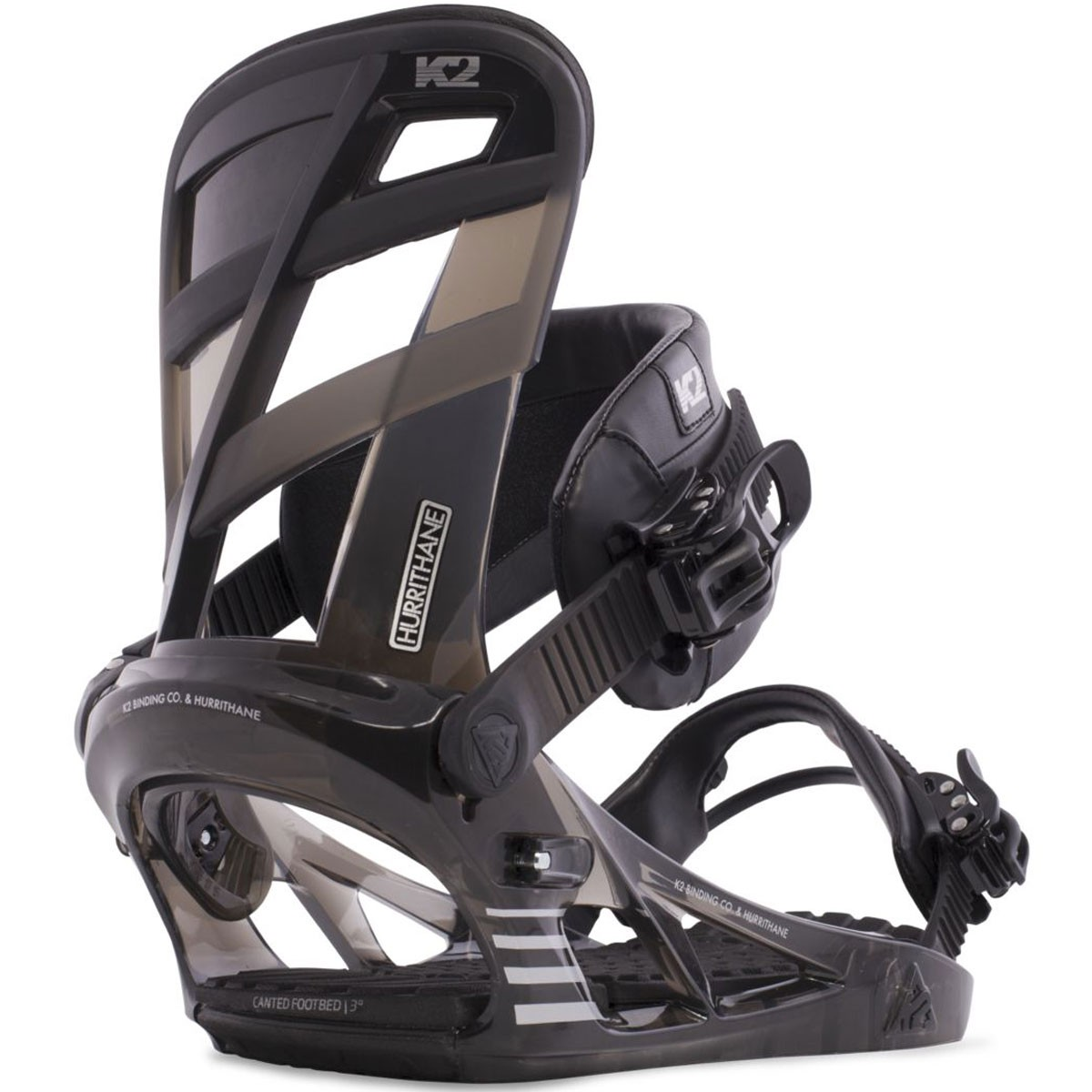 K2 Hurrithane Snowboard Bindings 2015 Black Smoke