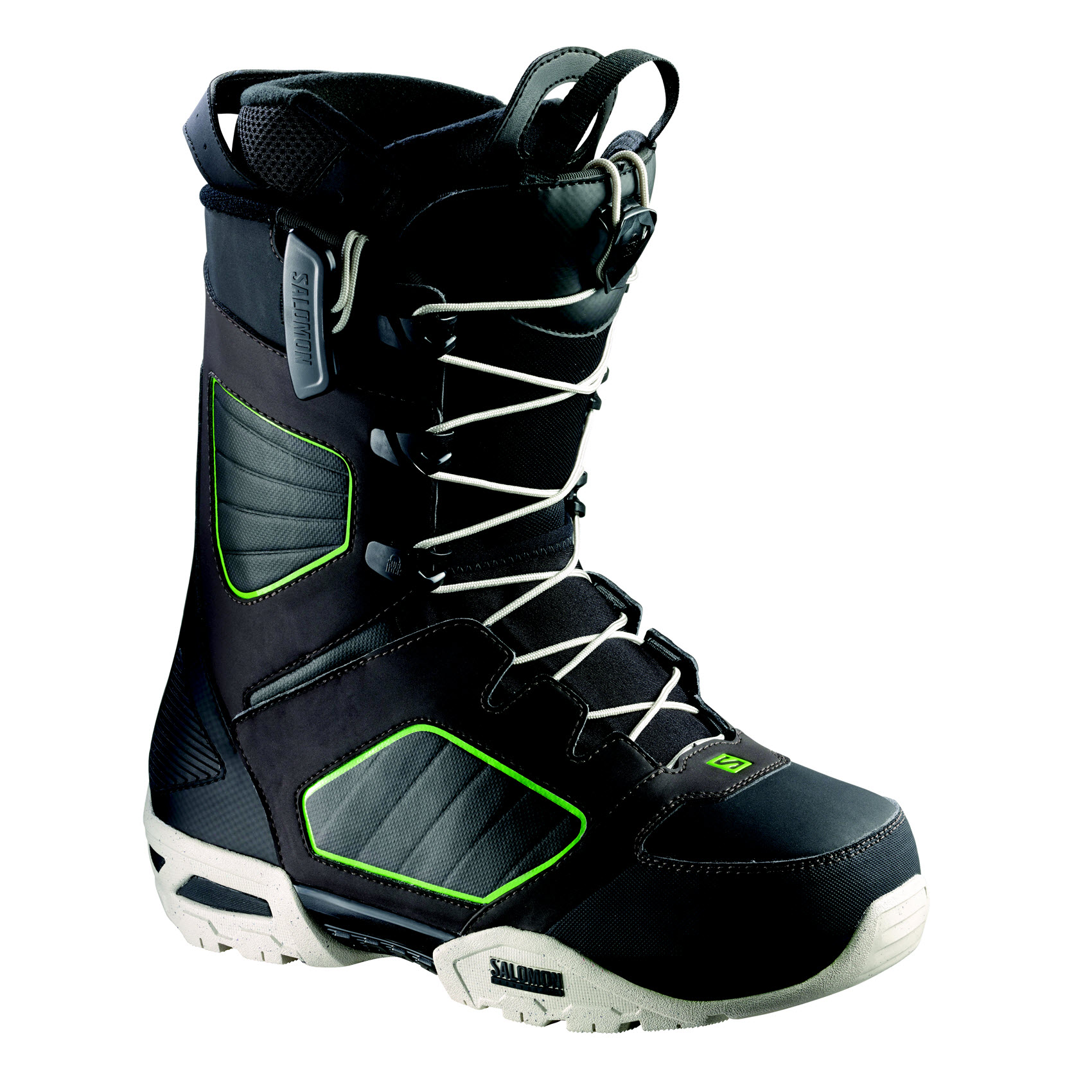 Salomon Synapse Wide Mens Snowboard Boots Black Brown Folio 2015
