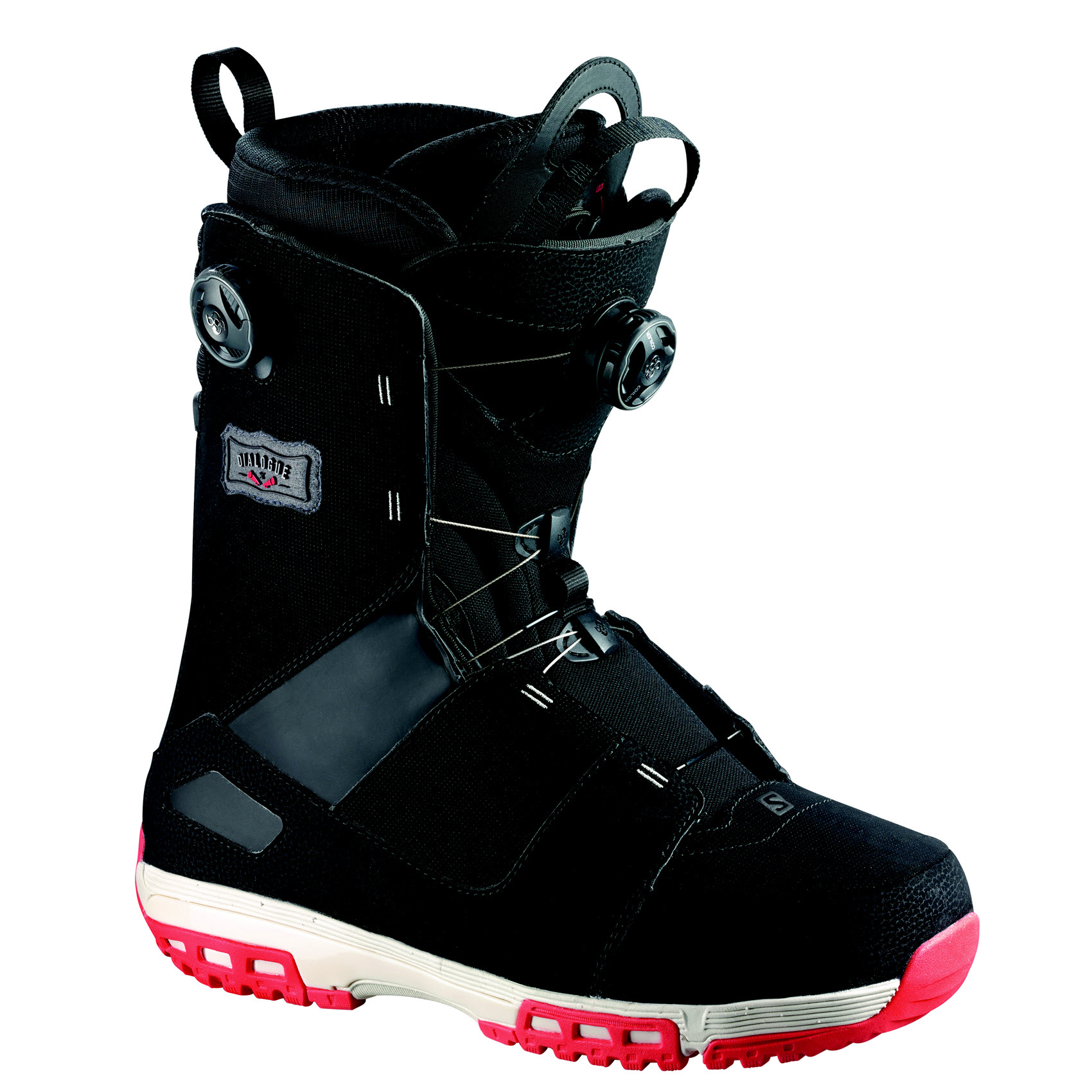 Salomon Dialogue Focus BOA Mens Snowboard Boots Black Grey Red 2015