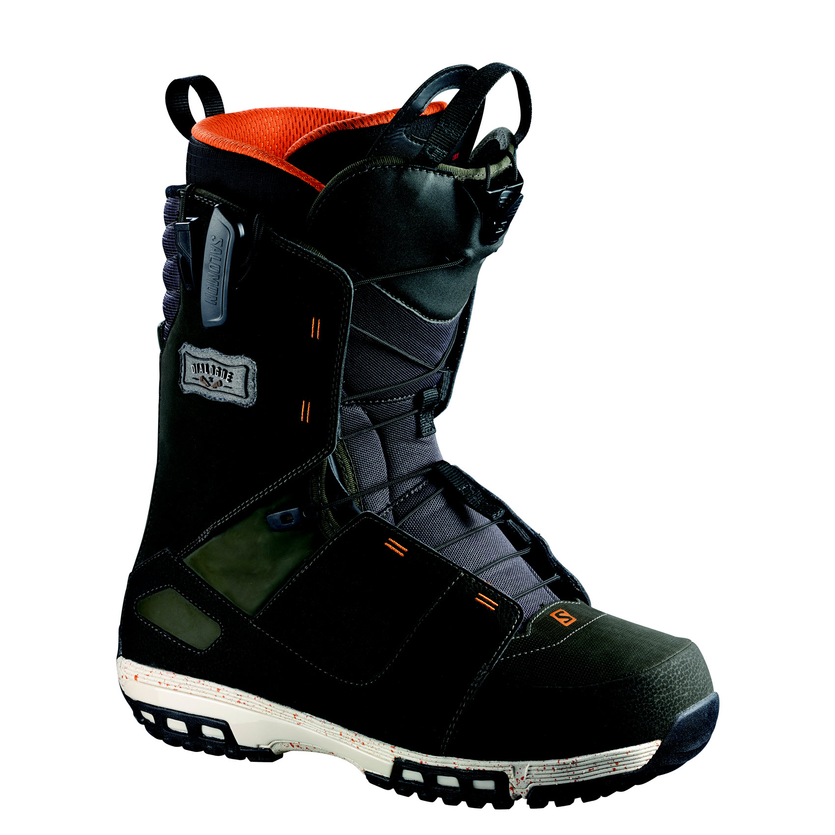 Salomon Dialogue Mens Snowboard Boots 2015 Dark Khaki Orange Black 2015