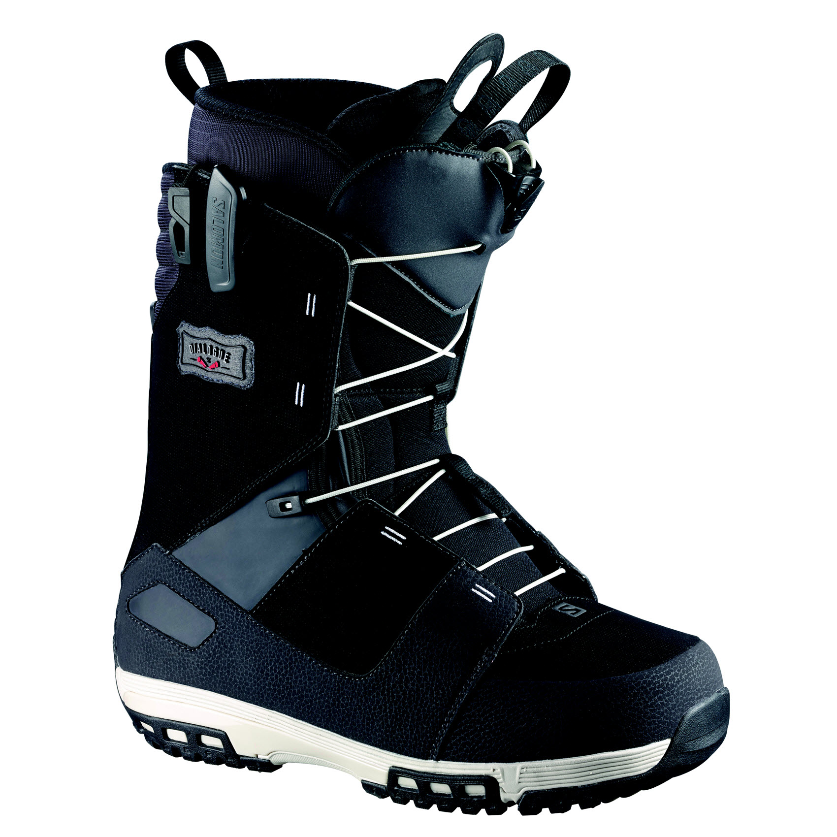 Salomon Dialogue Wide Mens Snowboard Boots 2015 Black Asphalt Grey