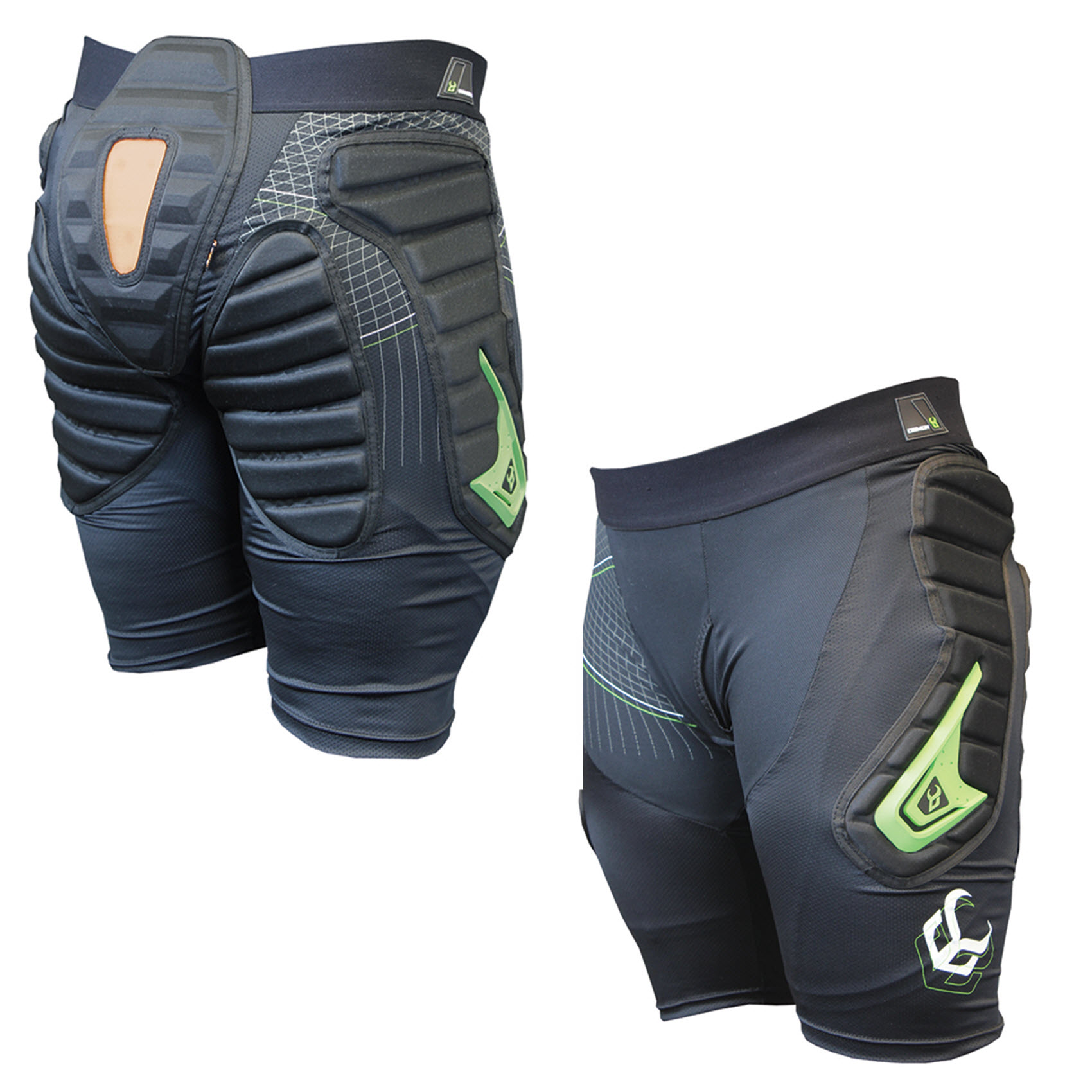Demon Flexforce X Short D30 Mens Snowboard Impact Shorts 2015