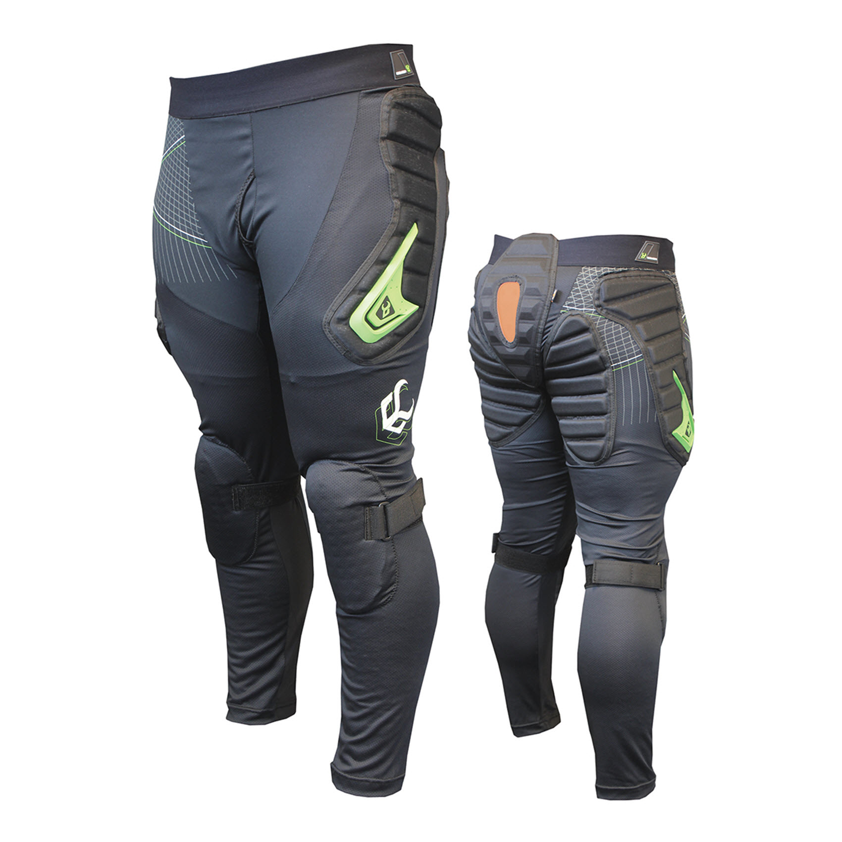 Demon Flexforce X Pants D30 Mens Snowboard Impact Shorts Long 2015