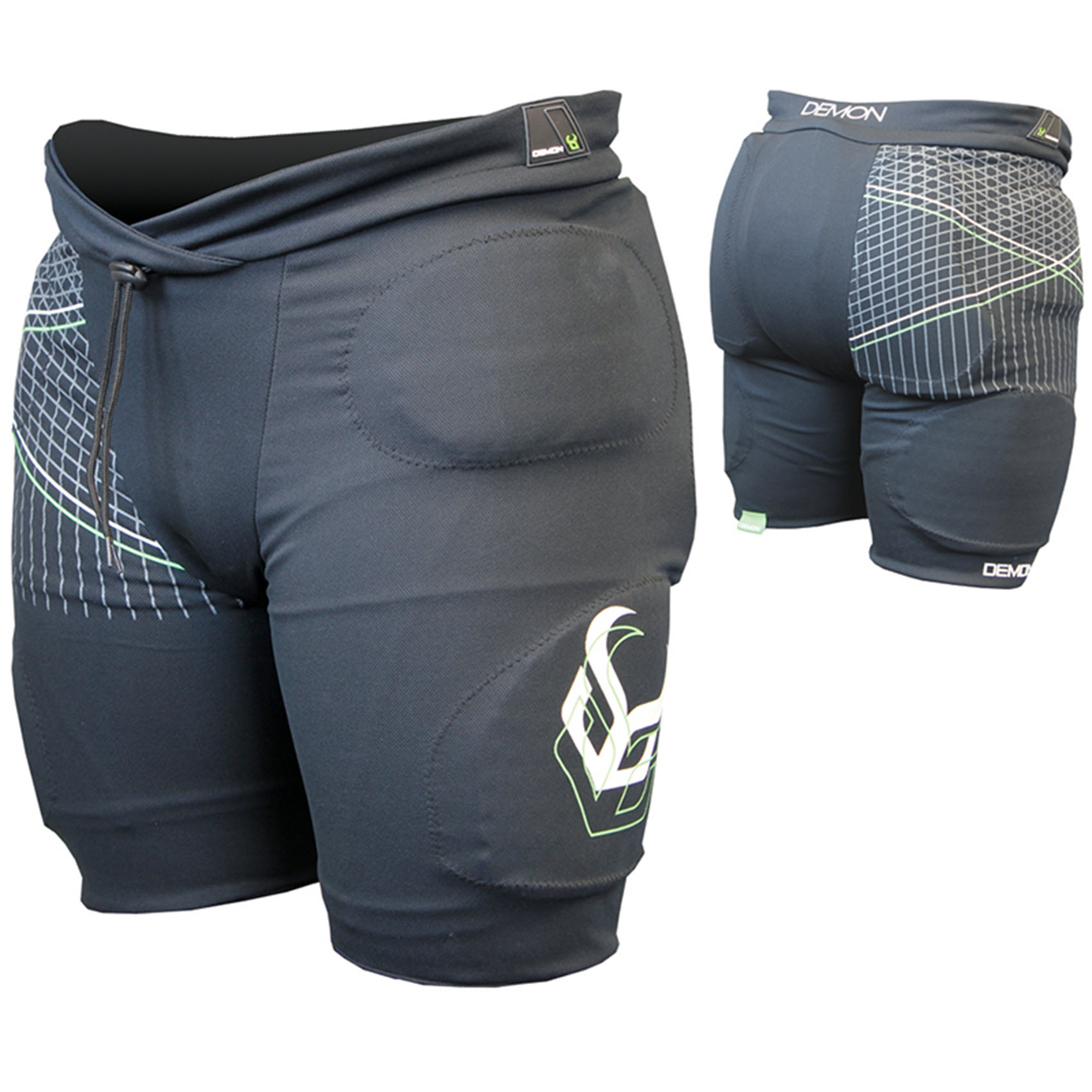 Demon Flex Force Pro Short Mens Snowboard Impact Shorts 2015