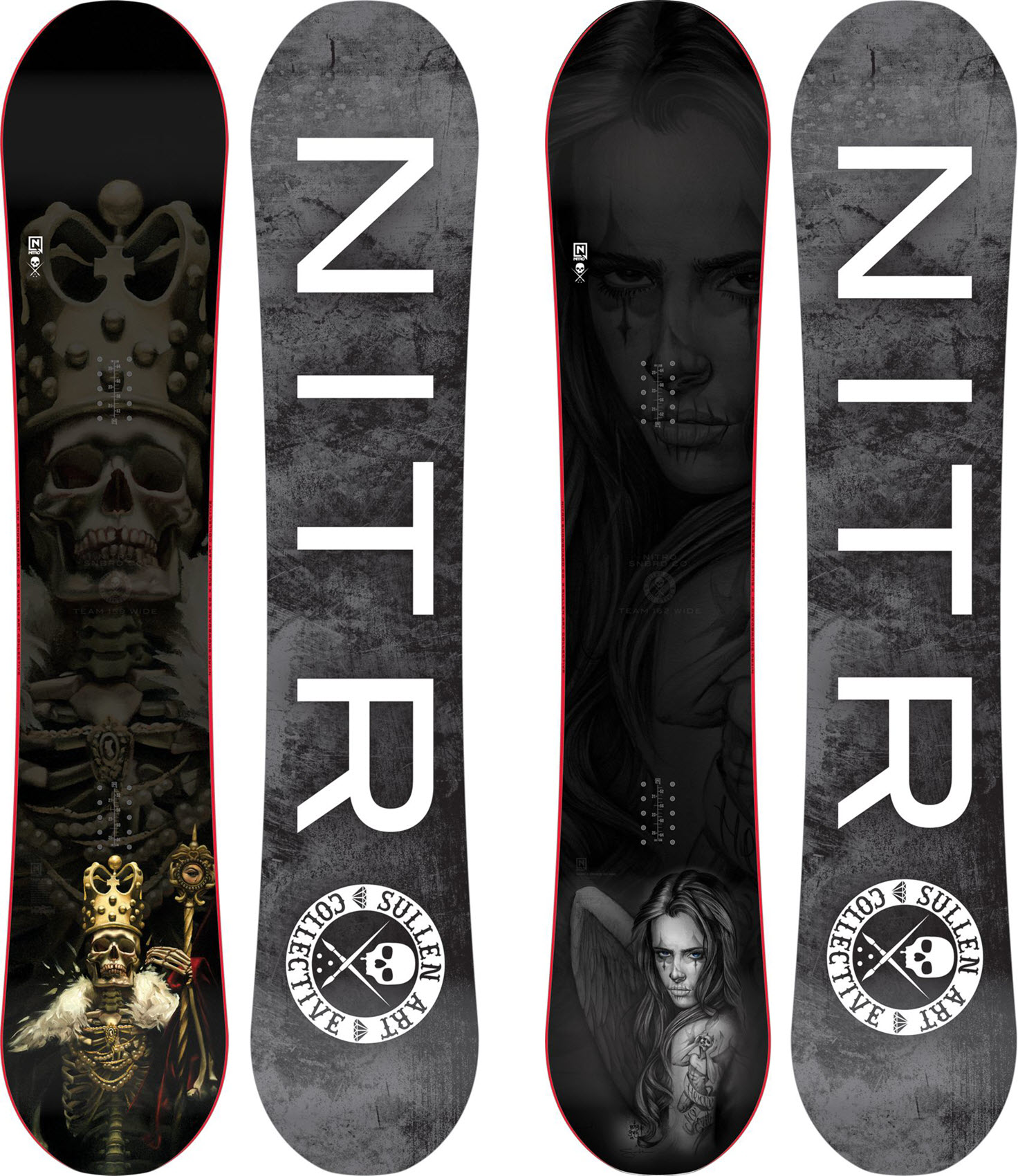 Nitro Team Gullwing x Sullen WIDE 2015 Mens Snowboard