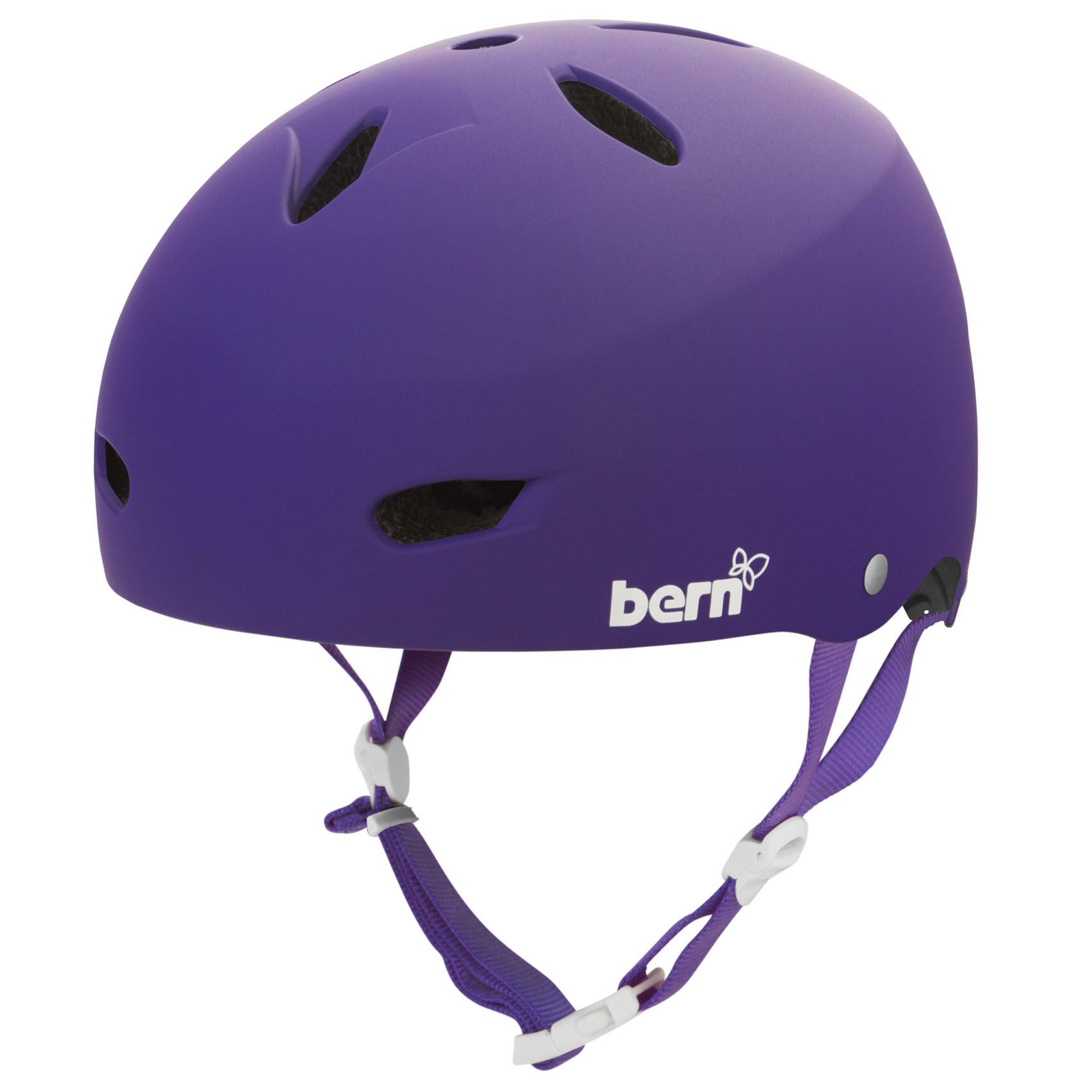 bern helmet bike brighton womens hard hat purple skate matte visor fixed medium