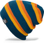 Dakine Zeke Beanie Youth Boys Kids Hat Winter Moroccan Blue Stripe