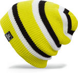 Dakine Youth Boys Kids Zeke Beanie Hat Hot Lime Stripe