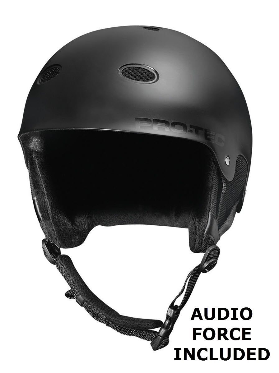 Protec B2 Audio Force Helmet Snowboard 2015 in Satin Black