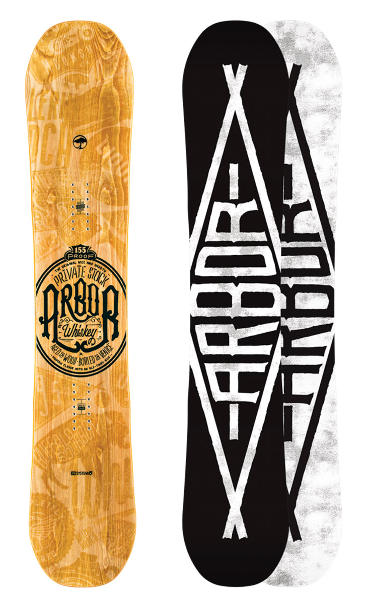 The Board Basement  Arbor Whiskey Snowboard 2015