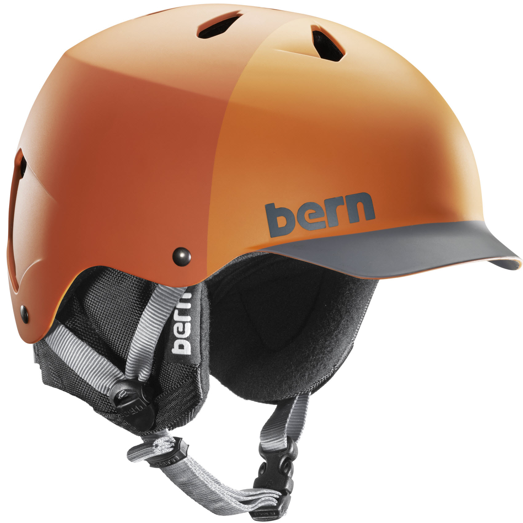 Bern Watts EPS Snowboard Ski Helmet New 2015 in Matte Orange XXL/XXXL