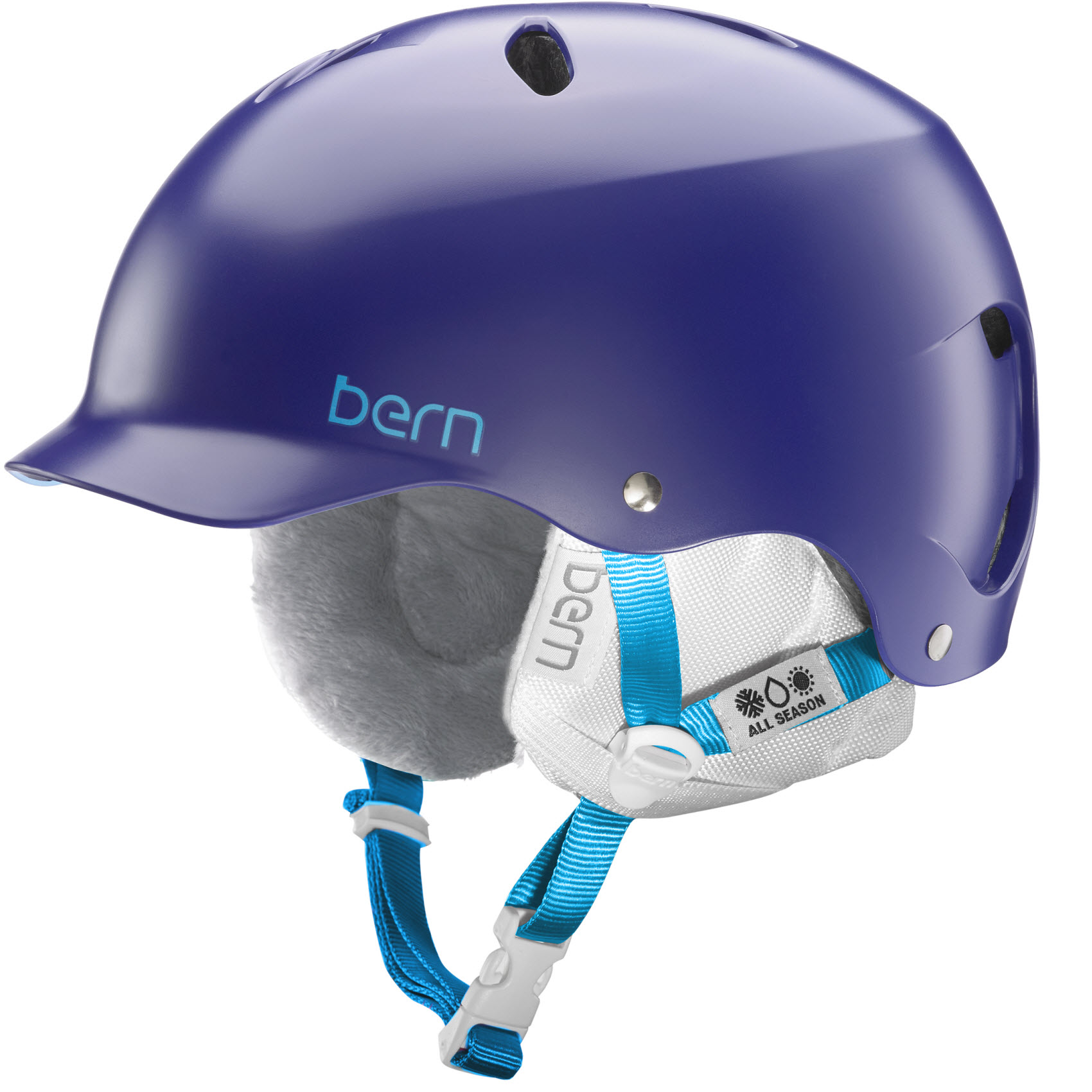 Bern Lenox EPS Womens Snowboard Ski Helmet 2015 in Satin Midnight M/L