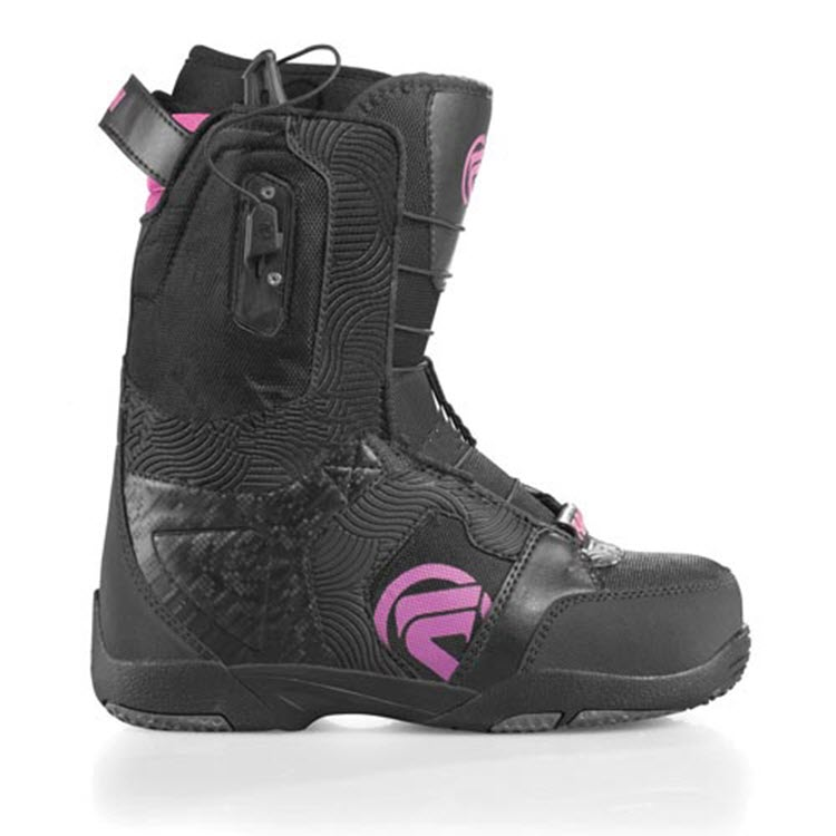 Flow Lotus Quickfit Womens Snowboard Boots New 2011 Black Purple