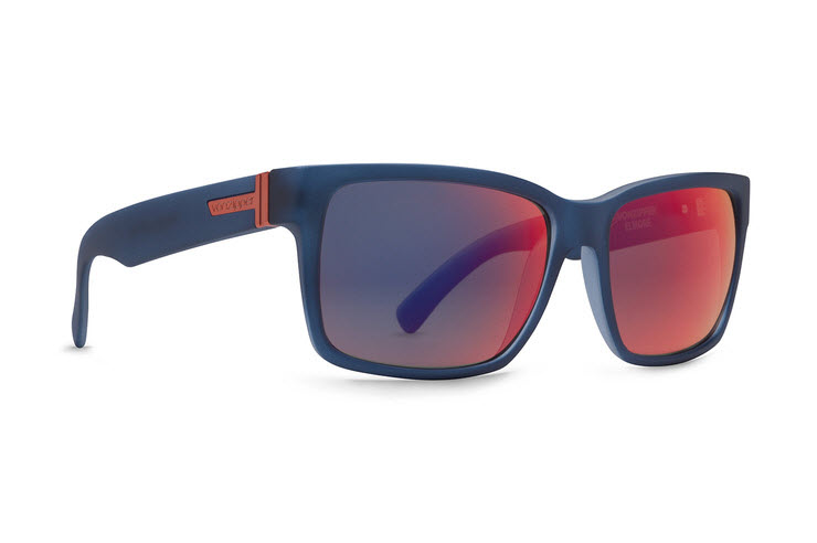 Product image of VonZipper Elmore Sunglasses in Navy Satin with Galactic Glow Lens