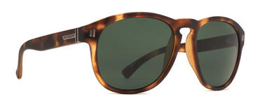 VonZipper Thurston Sunglasses in Demi Tortoise Satin with Vintage Grey Lens (SMRF1THU TOR)