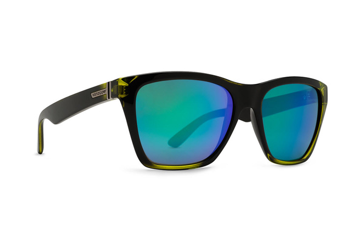 Product image of VonZipper Booker Sunglasses-Mindglo Lime-Quasar Glo Lens SMRF3BOO FBL