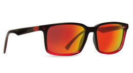VonZipper Pinch Sunglasses in Mindglo Red with Lunar Glo Lens (SMRFAPIN-FBR)