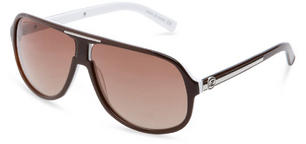 VonZipper Hoss Sunglasses in Chocolate White with Bronze Gradient Lens