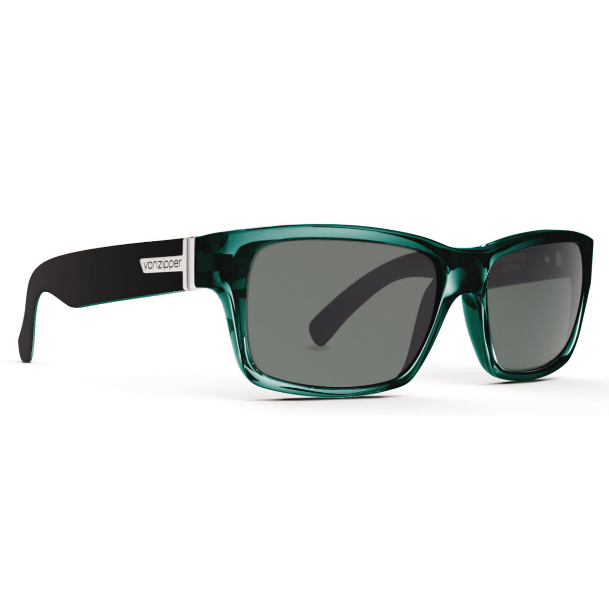 Product image of Von Zipper VZ Fulton Sunglasses Green Black Crystal with Grey Lens